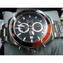 Reloj Cronografo Eurotime Caja Y Malla Acero Cristal Mineral
