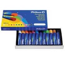 Oleo Pastel Para Pintar Pelikan X 12 Colores Nuevos!!