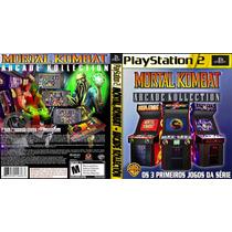 Mortal Kombat Coleção Arcade Playstation 2 Dvd Rom