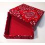 Caixa De Madeira Decorativa Forrada Com Tecido De Bandana