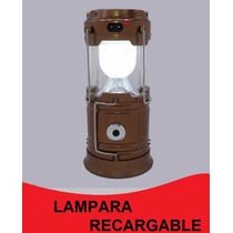 Lampara Led Recargable Solar / Luz / Power Bank Usb Puebla