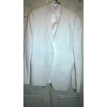 Blazer Zara, Blanco, Talla 42 Usa Xl