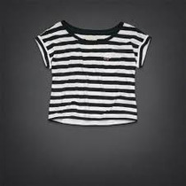 Blusa Hollister Tipo Crop Top Striped T- S Nueva Original