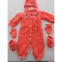 Conjunto Roupa Sapatinho Luva Toca Tricô Bebê Lã Maternidade