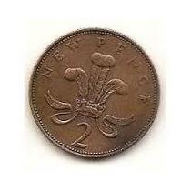 Histórica Rara Moeda 2 New Pence 1980 Soberba