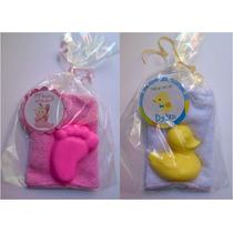 Recuerdos Personalizados Toalla Con Jabon Para Baby Bautizo