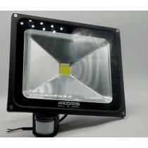 Refletor De Led 50w Com Sensor De Presença Luz Branco Frio