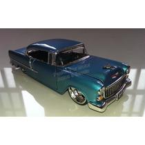 1:24 Chevrolet Bel Air 1955 Plata Jada Toys Display *
