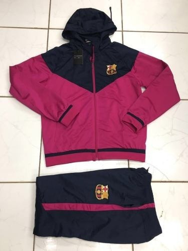 f68c1dab16a3d Agasalho Do Barcelona Pink Conjunto Completo 2018 - R  259