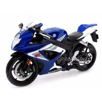 Suzuki Gsx R750 1:12 Maisto Azul 31153