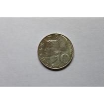 Austria Moneda De Plata 10 Schilling De 1959