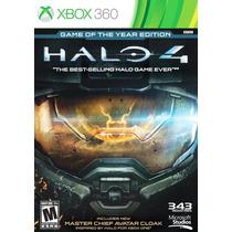 Xbox 360 Halo 4 Juego Del Año En Español Nuevo Y Sellado