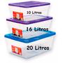 Caja Plastica Click Alfa 10 Litros Multiusos Organizadora