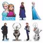 Kit 7 Display De Mesa Frozen Mdf 3mm Decoração Festa 22cm