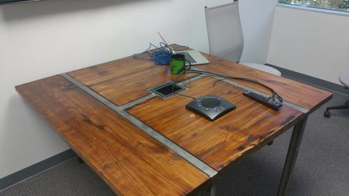 Mesa De Comedor De Diseño Industrial Hierro Y Madera Pallets ...