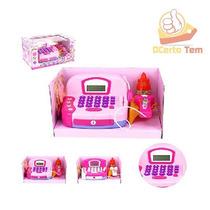 Caixa Máquina Registradora Infantil Com Acessórios Som E Luz