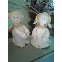 Angel En Porcelana Fría Comunión Bautismo Confirmación