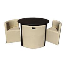 Antecomedor Comedor Mesa Con 4 Sillas Lounge Minimalista 4td