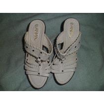 Sandalias Blancas Plataforma, Nuevo, Importado