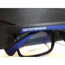 Armação Óculos De Grau Ea3034 Varias Cores Masculino + Case