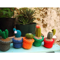 Cactus Crochet Amigurumi 4 Cm Diámetro