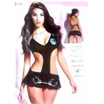 Baby Doll Disfraz Policía Con Esposas & Placa 1237412