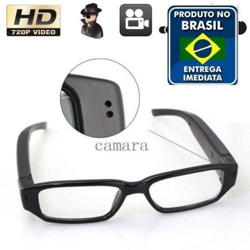15f59036ebe27 Óculos Espião Com Câmera Escondida Tira Foto E Filma Em Hd - R  129,90 em  Mercado Livre