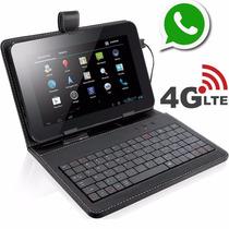 Tablet 32gb Função Celular 2 Chips Quadcore Capa C/ Teclado