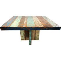 Mesa Quadrada Demolição 1,40 X 1,40 8 Lugares Sem Cadeiras