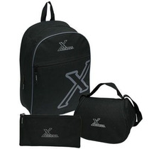 Combo Morral, Lonchera Y Cartuchera Exodus Power Escolar