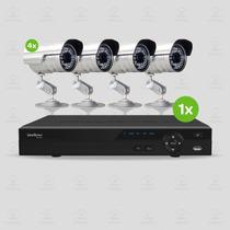 Kit Segurança Dvr Stand Alone Intelbras 8 Canais 4 Câmera