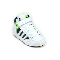 Zapatilla Adidas Original Mid J Blanco Verde Azul