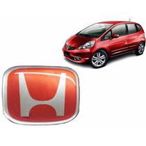 Emblema Honda Vermelho Volante Honda Fit 2009 A 2013