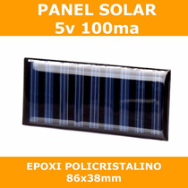 Panel Solar Celda 5v 100ma Policristalino Epoxi Pic Arduino