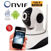 Camera Ip Wireless Visão Noturna 1,3mp Onvif Via Internet