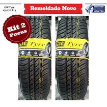 Kit 2 Pneus 175/70 R13 Gw Tyre Remoldado Gol Palio Uno Celta
