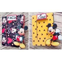 Portaretratos Souvenirs Mickey Y Minnie Mouse Con Vidrio