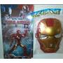 Combo Muñeco Y Mascaras Avengers, Capitán América, Ironman