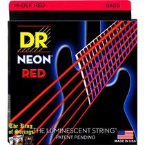 Encordoamento P/ Baixo De 6 Cordas Dr Neon - Vermelha