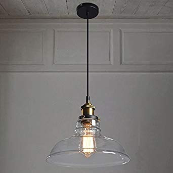 Lysed Pendant Lights Vintage Style Heavy Clear Gl 1 741 58 En Mercado Libre