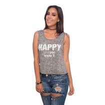 Franela Gris Gastada Happy Saints Clothes