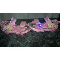 Sandalias Zapatillas De Barbie Con Luz Importadas Divinas!