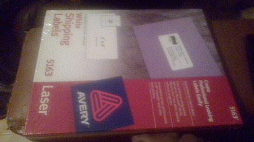 caja etiquetas blancas avery 5163 laser bs 1 415 00 en mercado libre