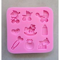 Molde Silicone Bebê Nascimento Maternidade Chá De Bebê