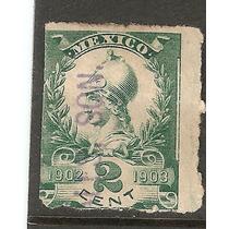 Estampilla Fiscal De 1902 Usada En Hermosillo Sonora