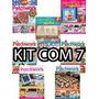 Kit 7 Revista Patchwork Com Moldes Artesanato Arte