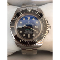 Frete Grátis Relógio Deepsea Sea-dweller D-blue Azul / Preto