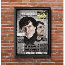 Cuadros Decorativos Sherlock 30x42cm Poster Laminas