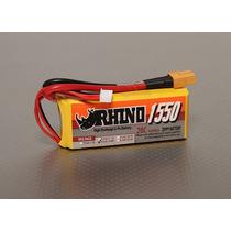 Bateria Rhino 1550mah 4s 14.8v 20c Lipoly Pack- Fúria Hobby