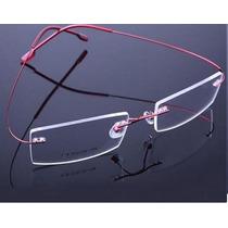 Armação Óculos De Grau Titanio Três Peças Parafuso Sem Aro